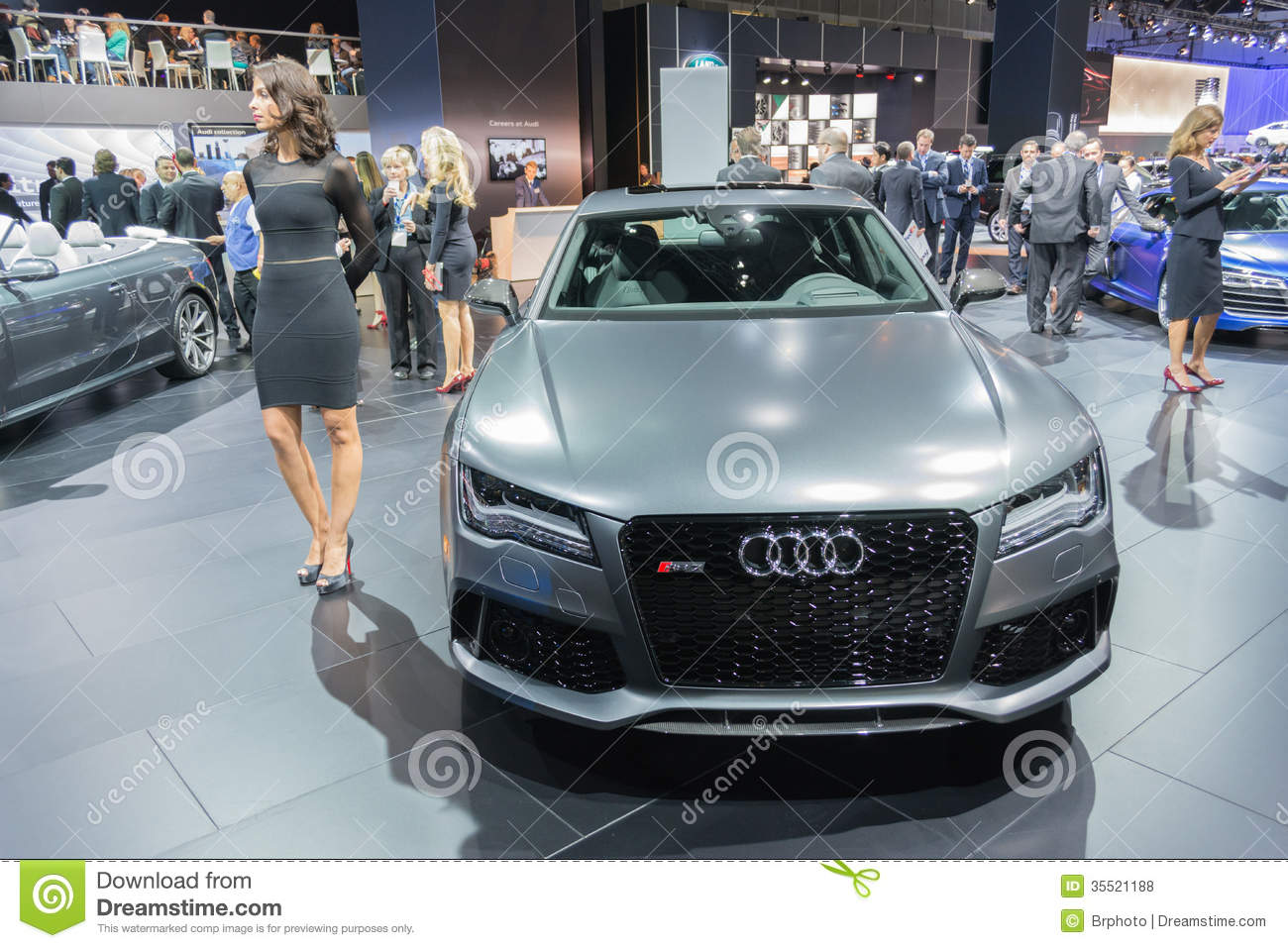 Audi RS 7 Car On Display At The LA Auto Show Editorial