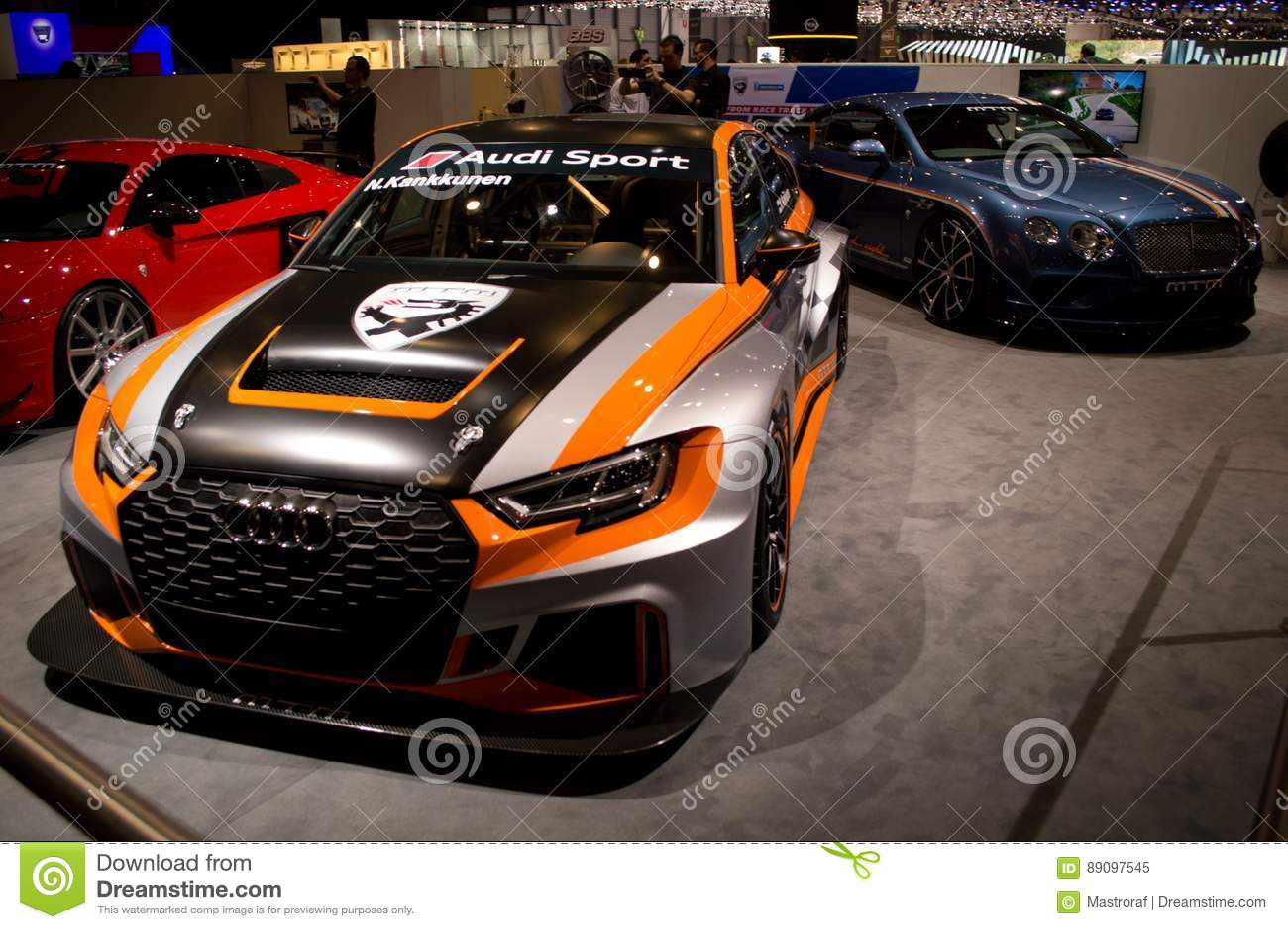 Audi RS3 LMS TCR Geneva 2017 Editorial Image - Image of ...