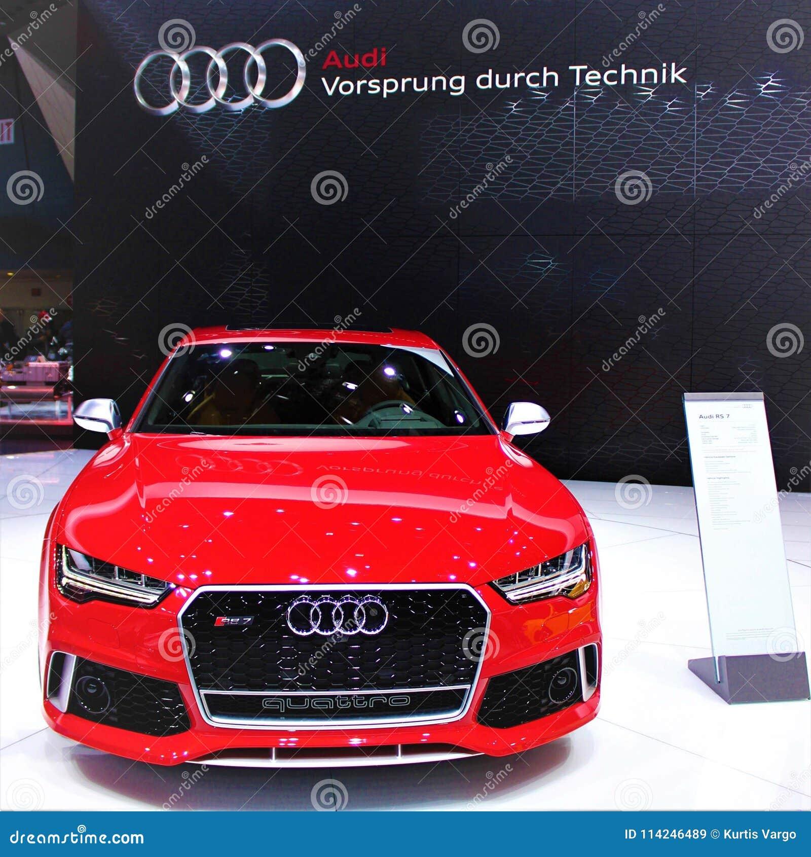 2015 Audi RS 7 Quattro at Detroit Auto Show
