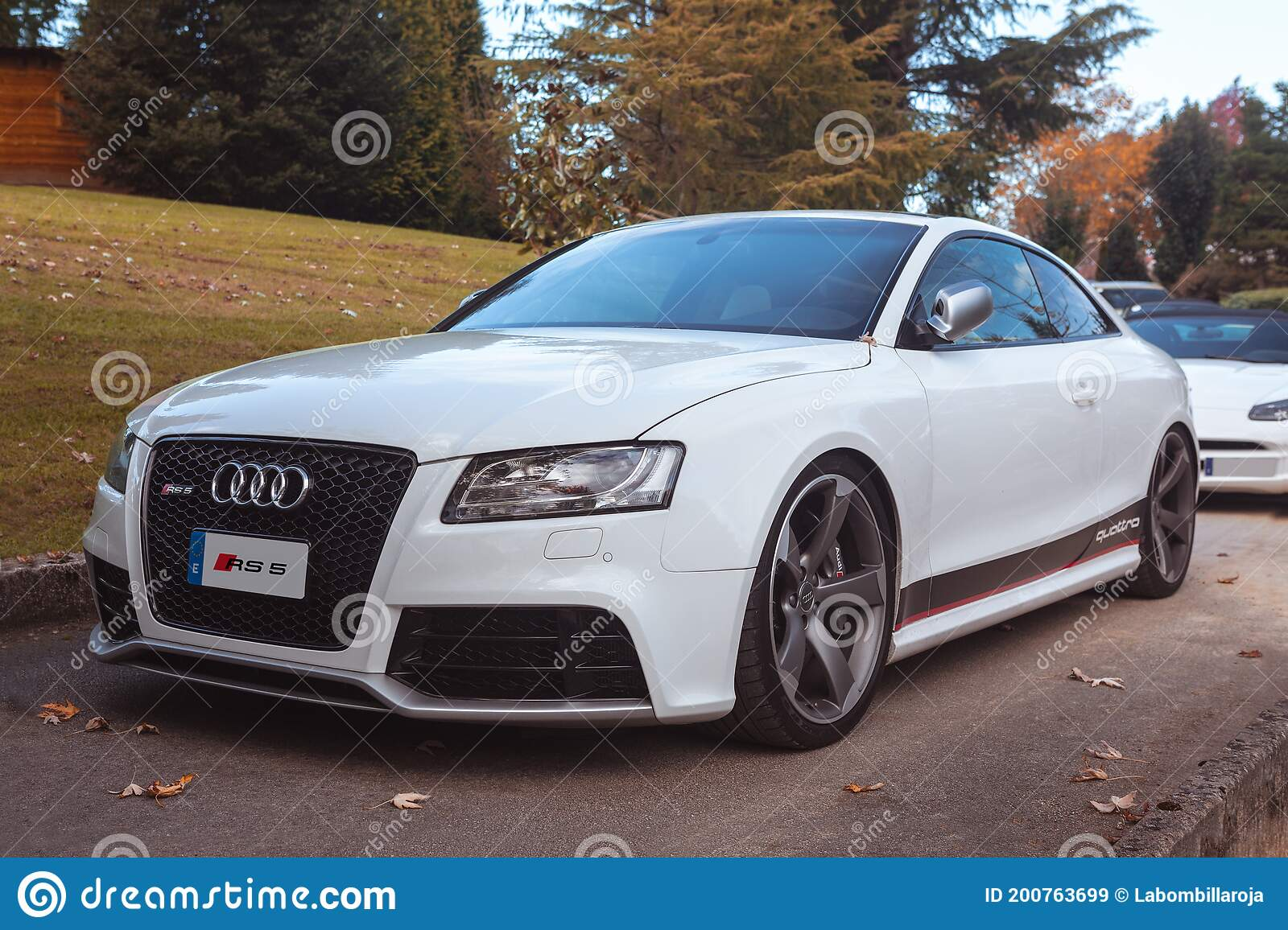White Audi Rs5 Parked Editorial Stock Image Image Of Limited 200763699