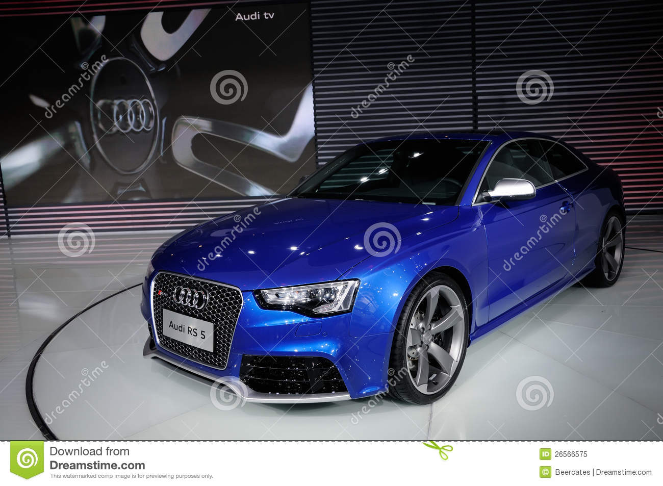 Audi RS5 Coupe On CDMS 2012 Editorial Image - Image: 26566575