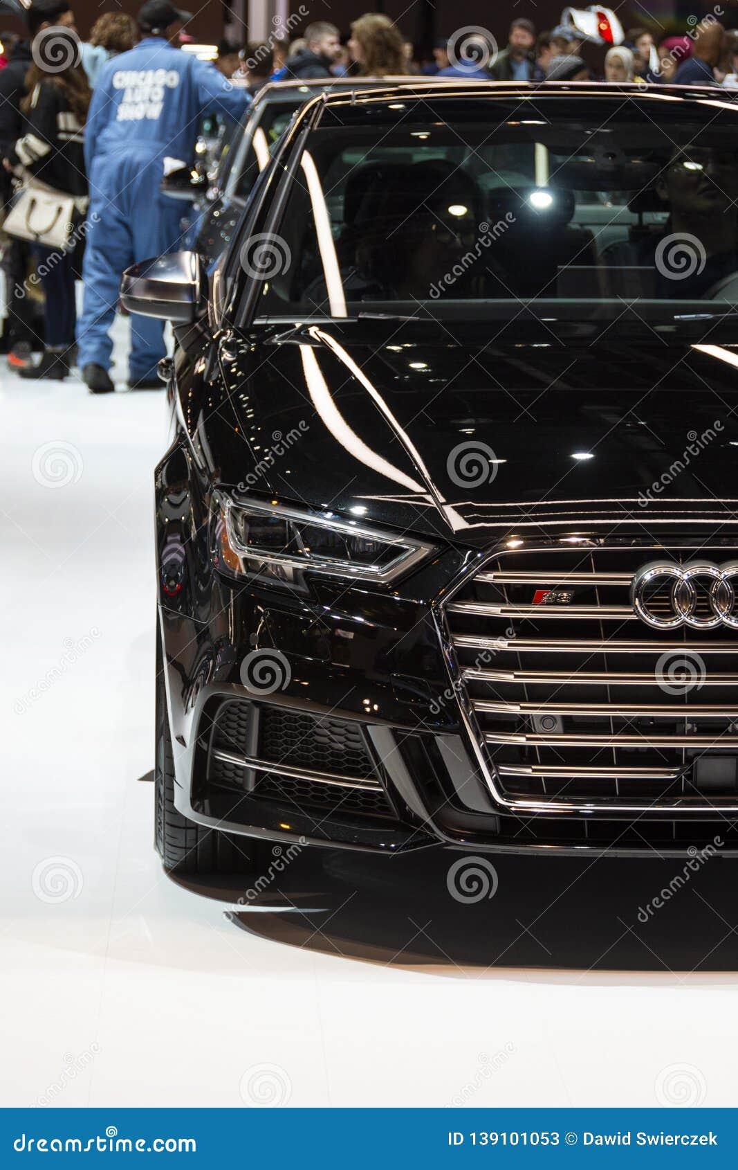 Audi S3 en el salón del automóvil 2019 de Chicago