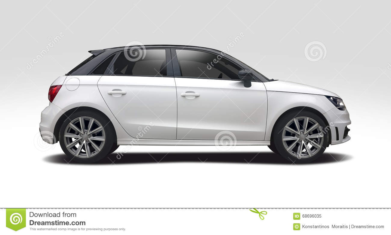 Audi A1 Side View Isolated On White Stock Image Image Of European
