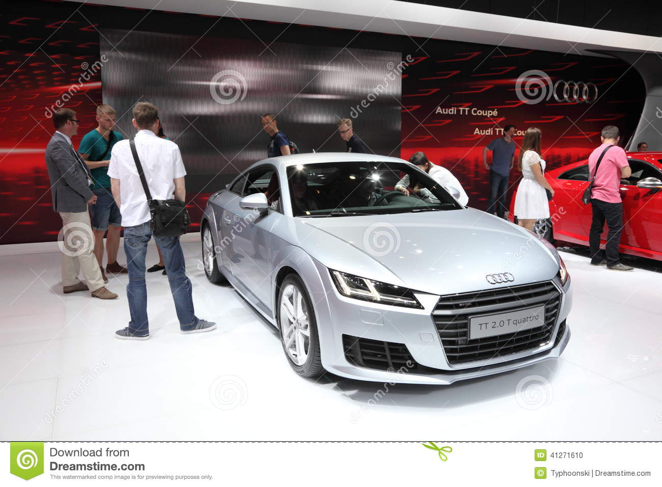 Audi Tt Coupe At The Ami Leipzig Germany Editorial Image Image