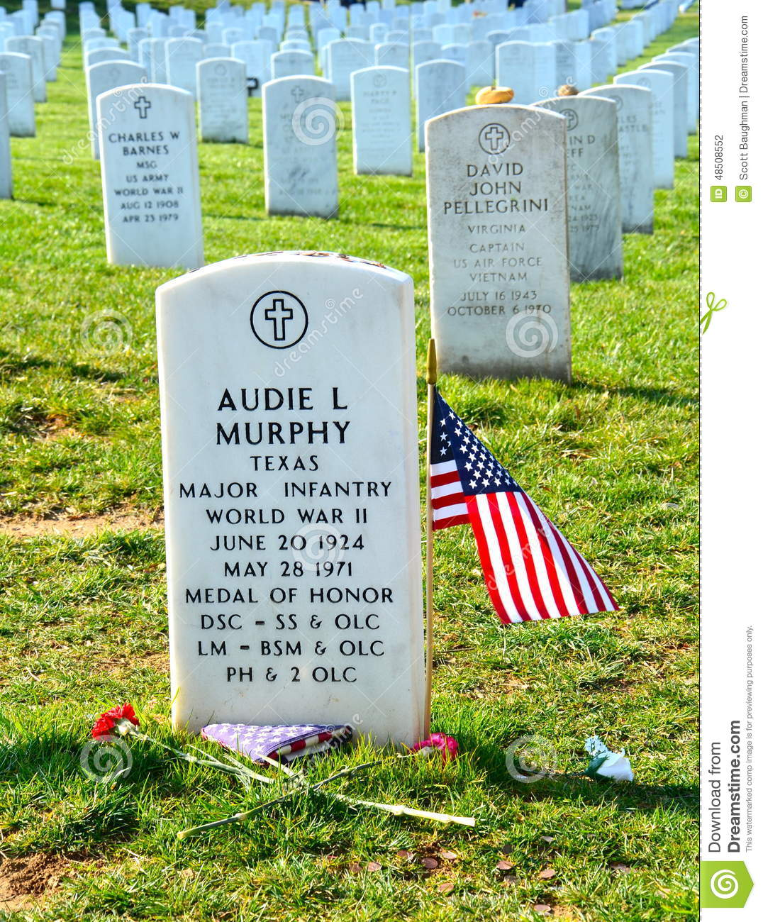 audie murphy grave in arlington editorial photography image of