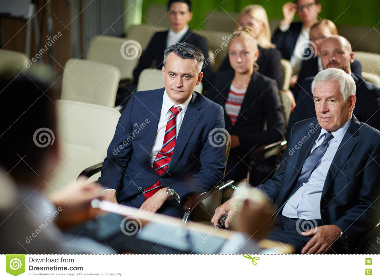 Audience Listening At Conference Stock Image - Image of ...