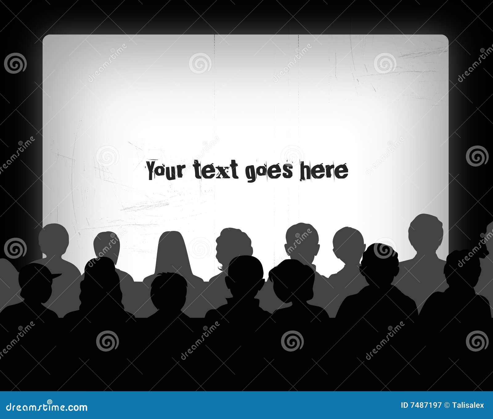 Audience Silhouettes Stock Illustration Illustration Of -3908
