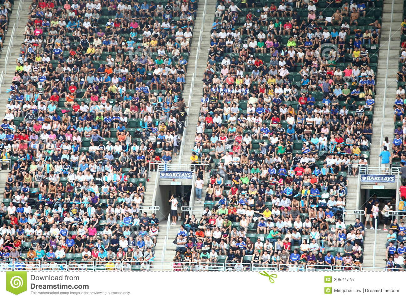 audience in the stands editorial image