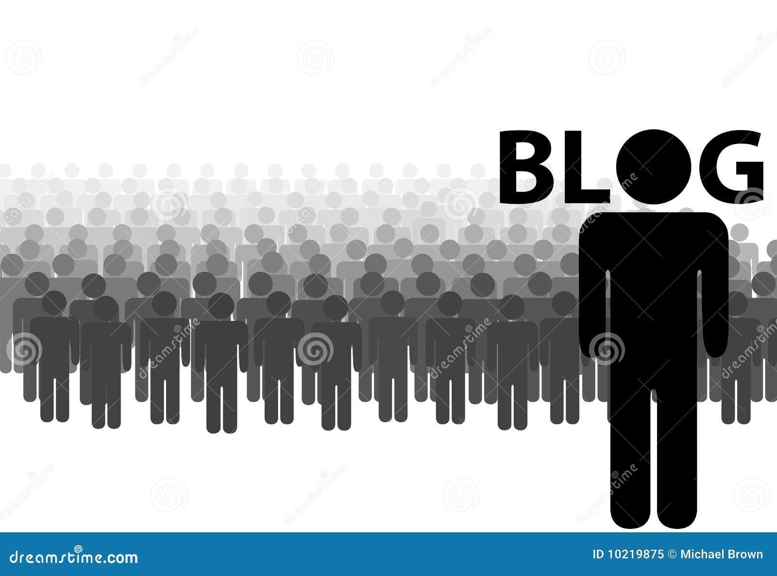 Audiencia del BLOG muchos programas de lectura de un blogger
