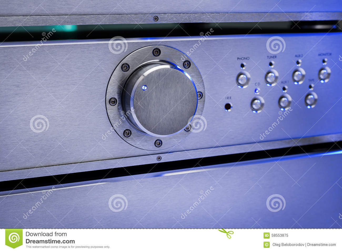 Audio Amplifier Stock Photo - Image: 58553875