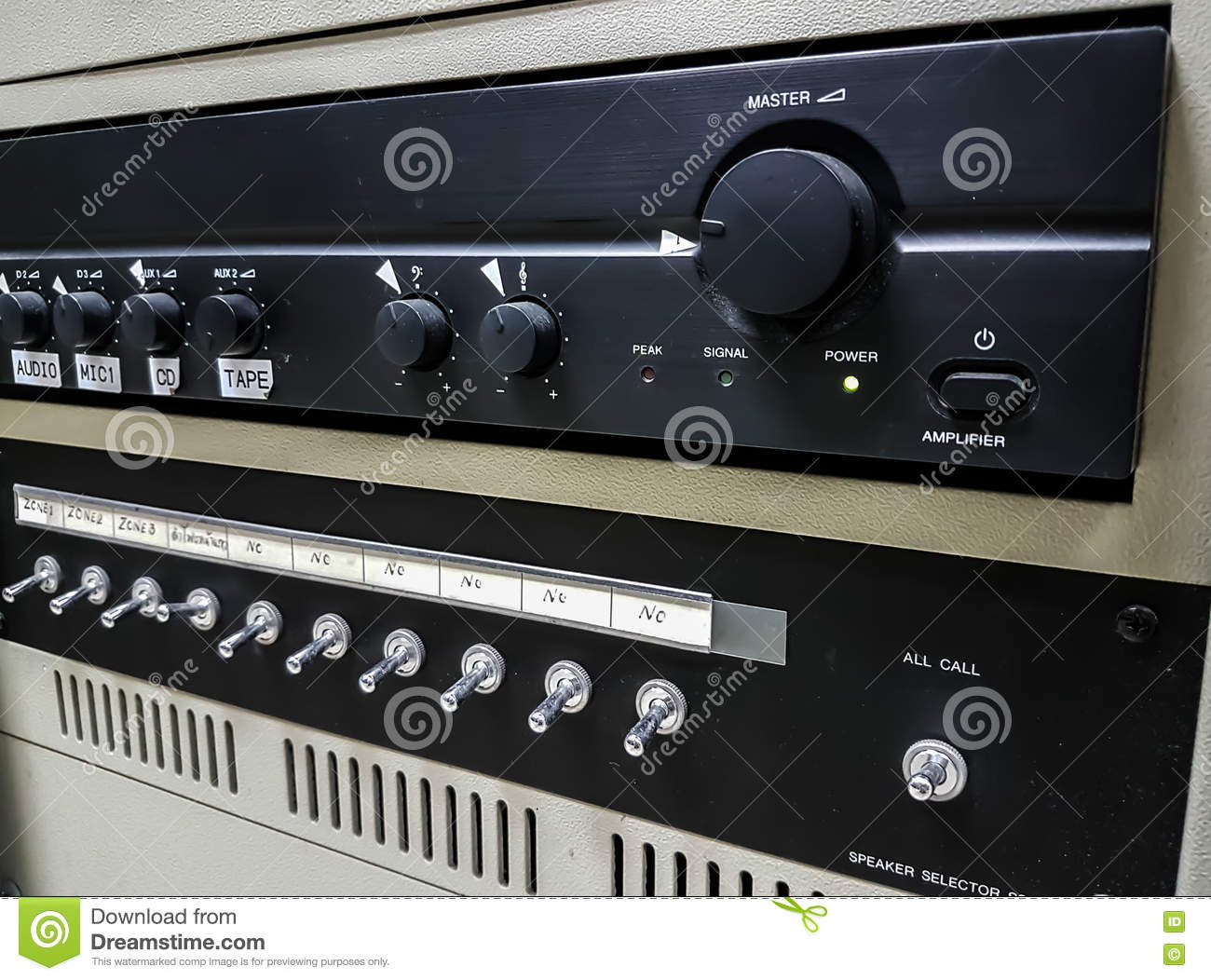 Audio Amplifiers Stock Photo Image Of Level Concert 80169198 Download