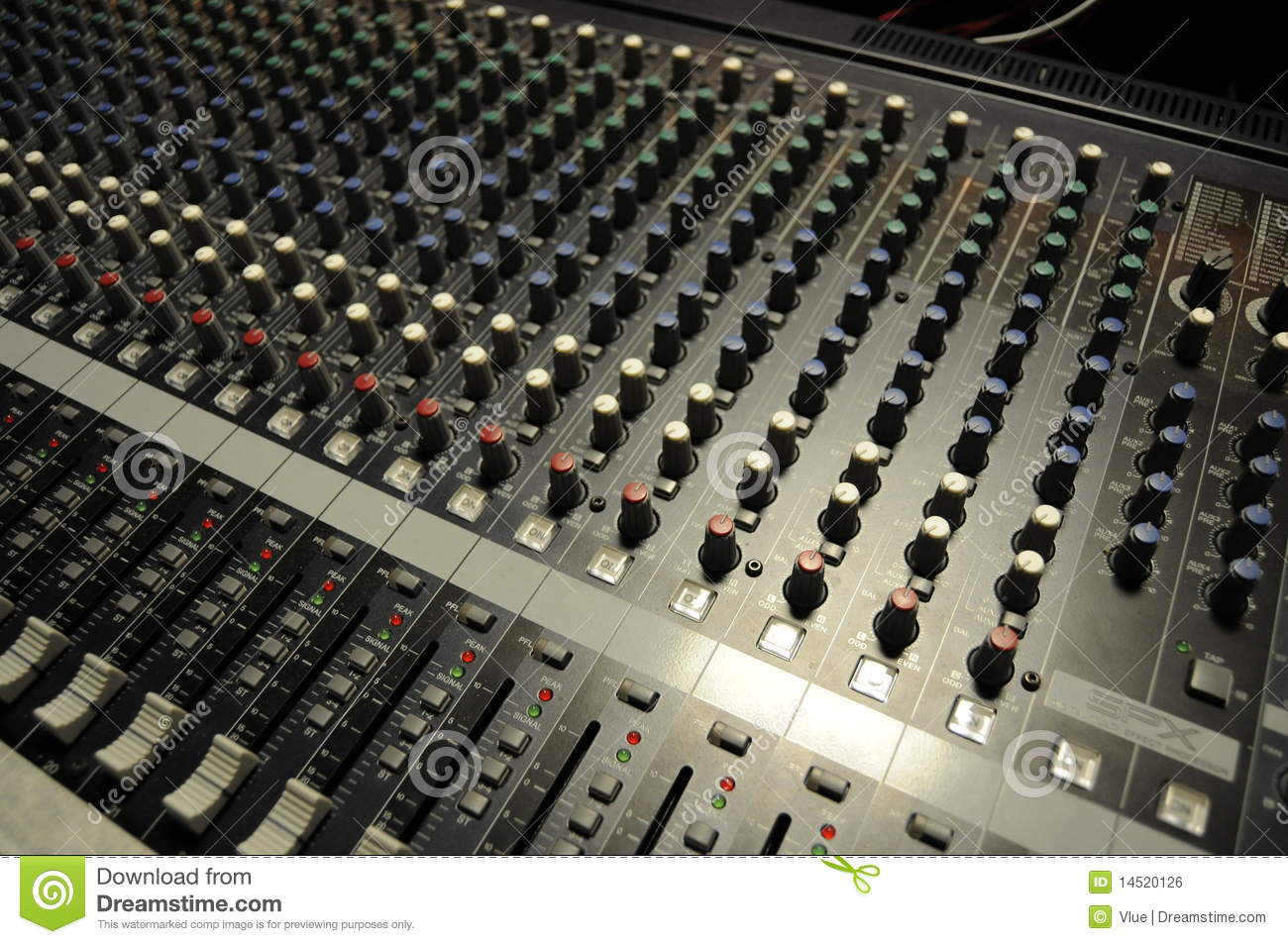 audio board royalty free stock image