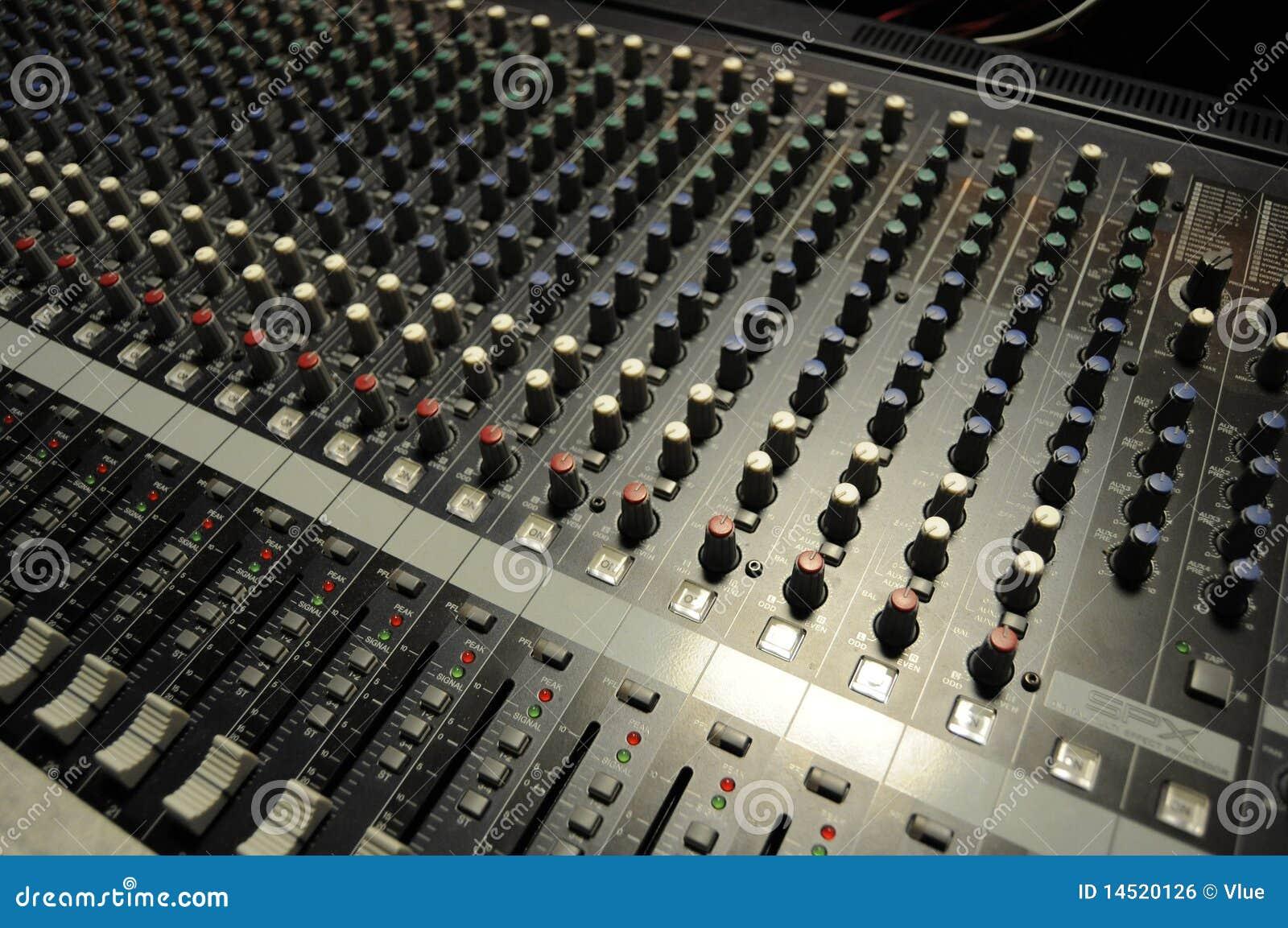 audio board royalty free stock image