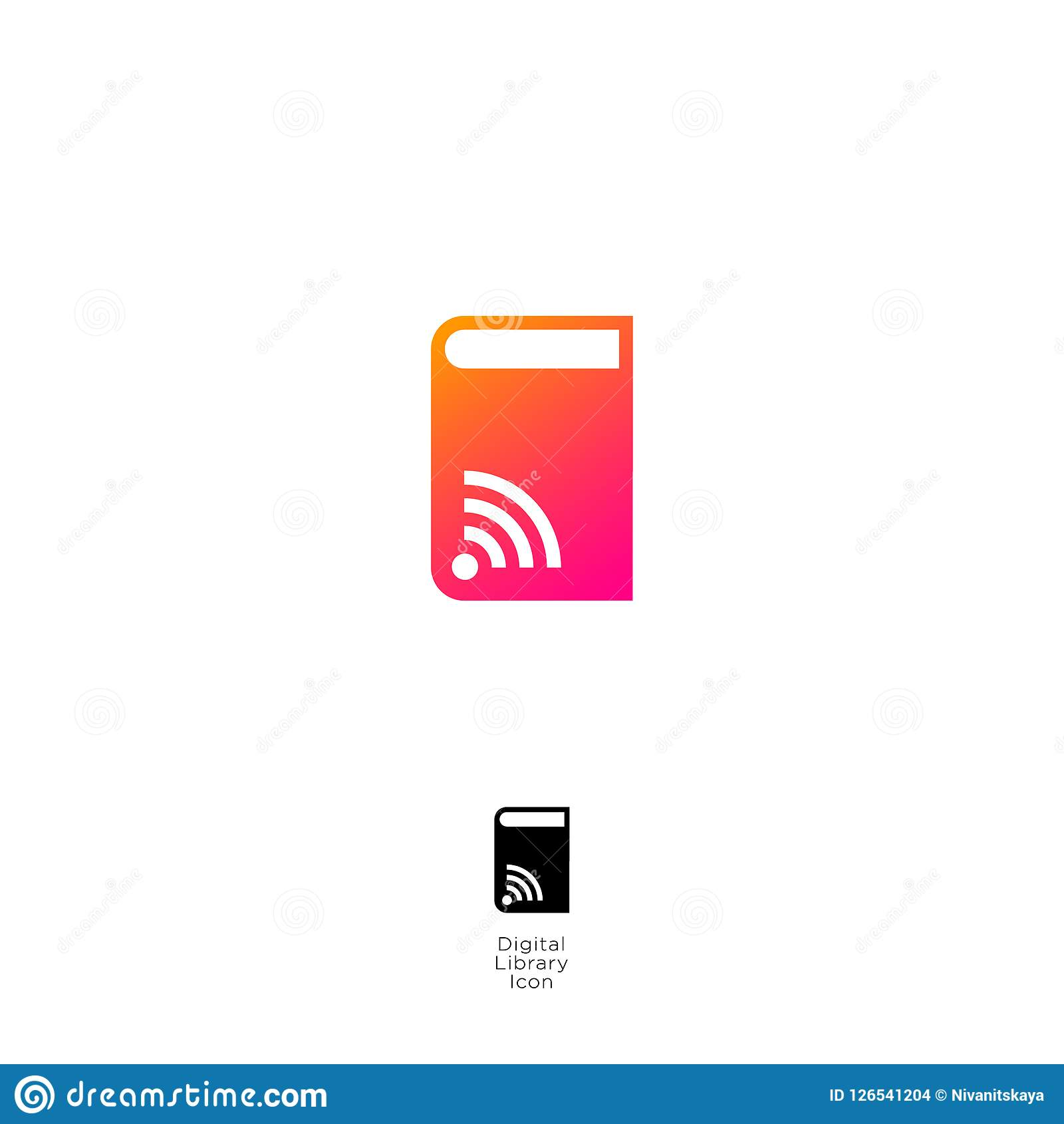 Audio Book Icon Digital Audio Book Logo Online Electronic