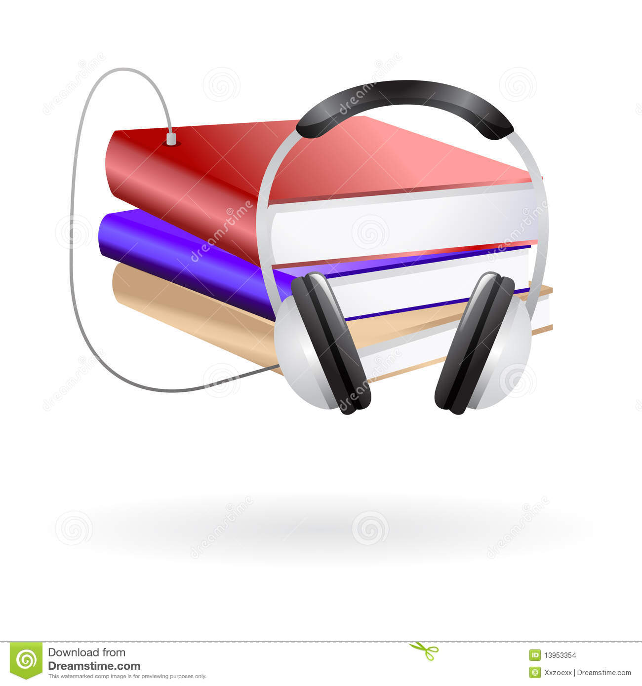 audio books clip art stock vector illustration of icon 13953354 rh dreamstime com clip art audio music clip art audio music