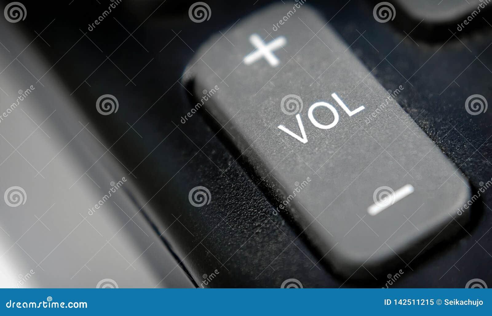 Audio bottone del volume su un telecomando di plastica