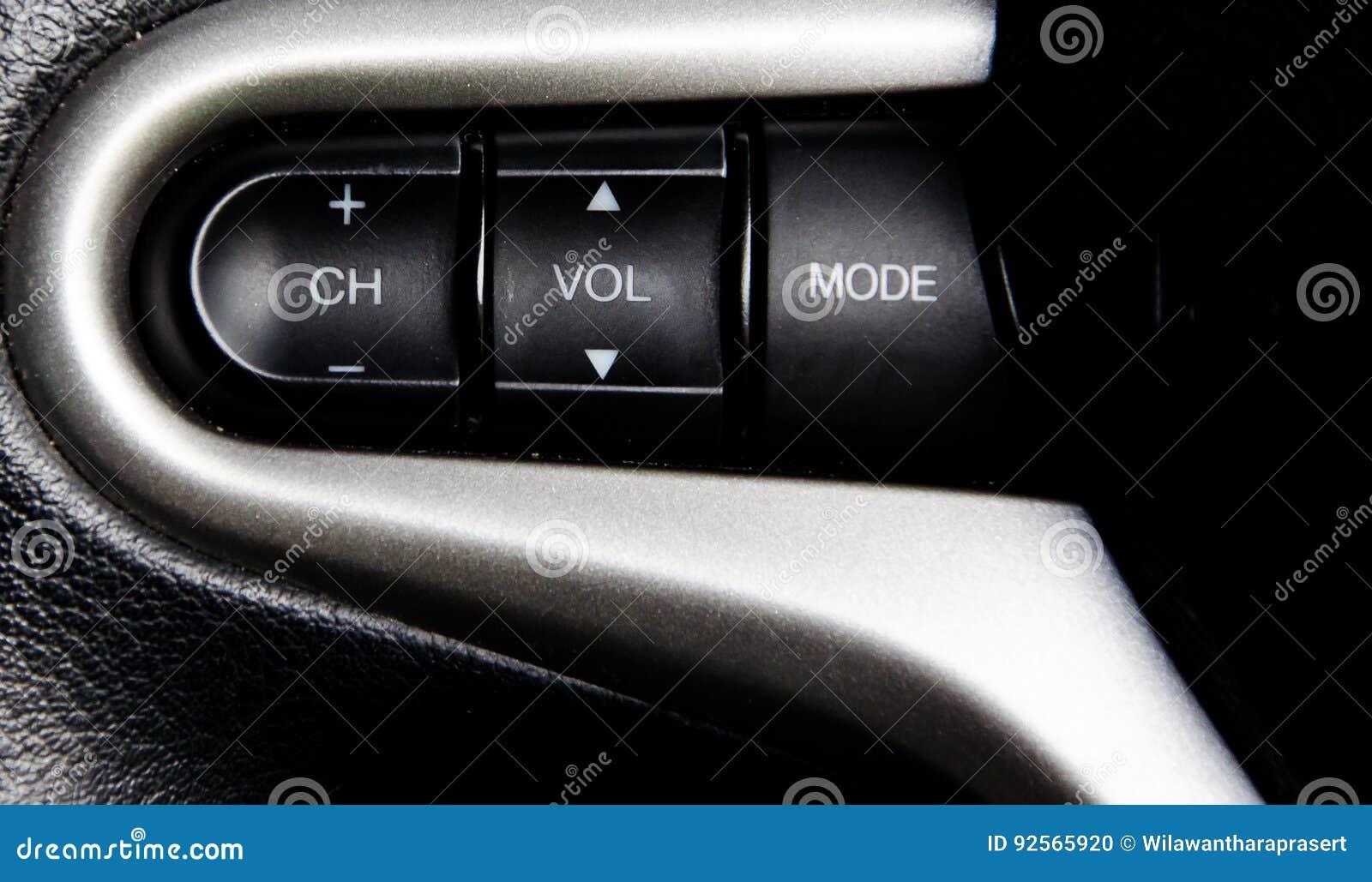 Audio bottoni dell automobile sul volante
