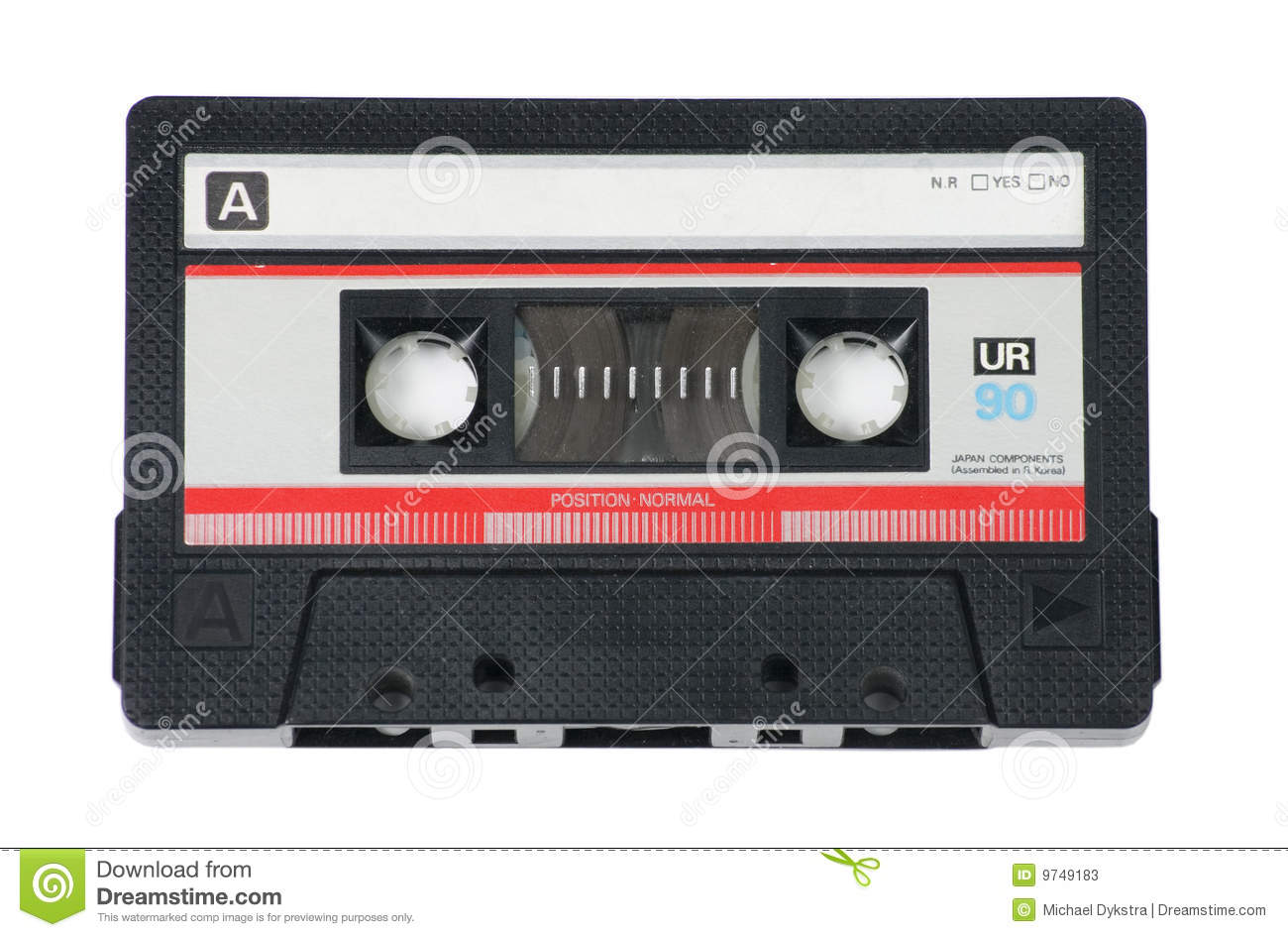 Cassette Tapes Audio cassette tape on white