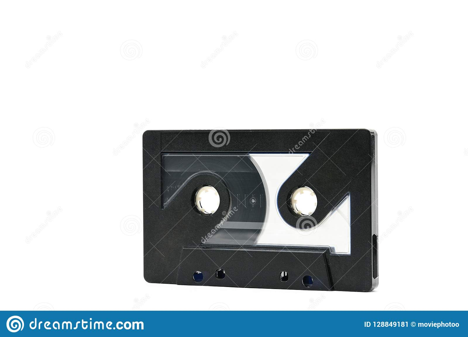 Audio cassette to record sound 70s 90s years