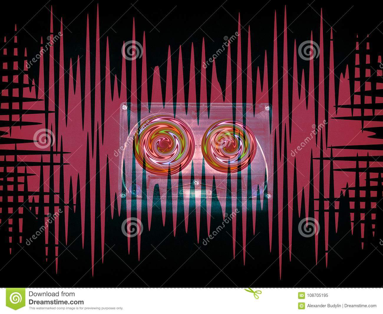 Audio Cassettes For Recorder Stock Illustration Illustration Of