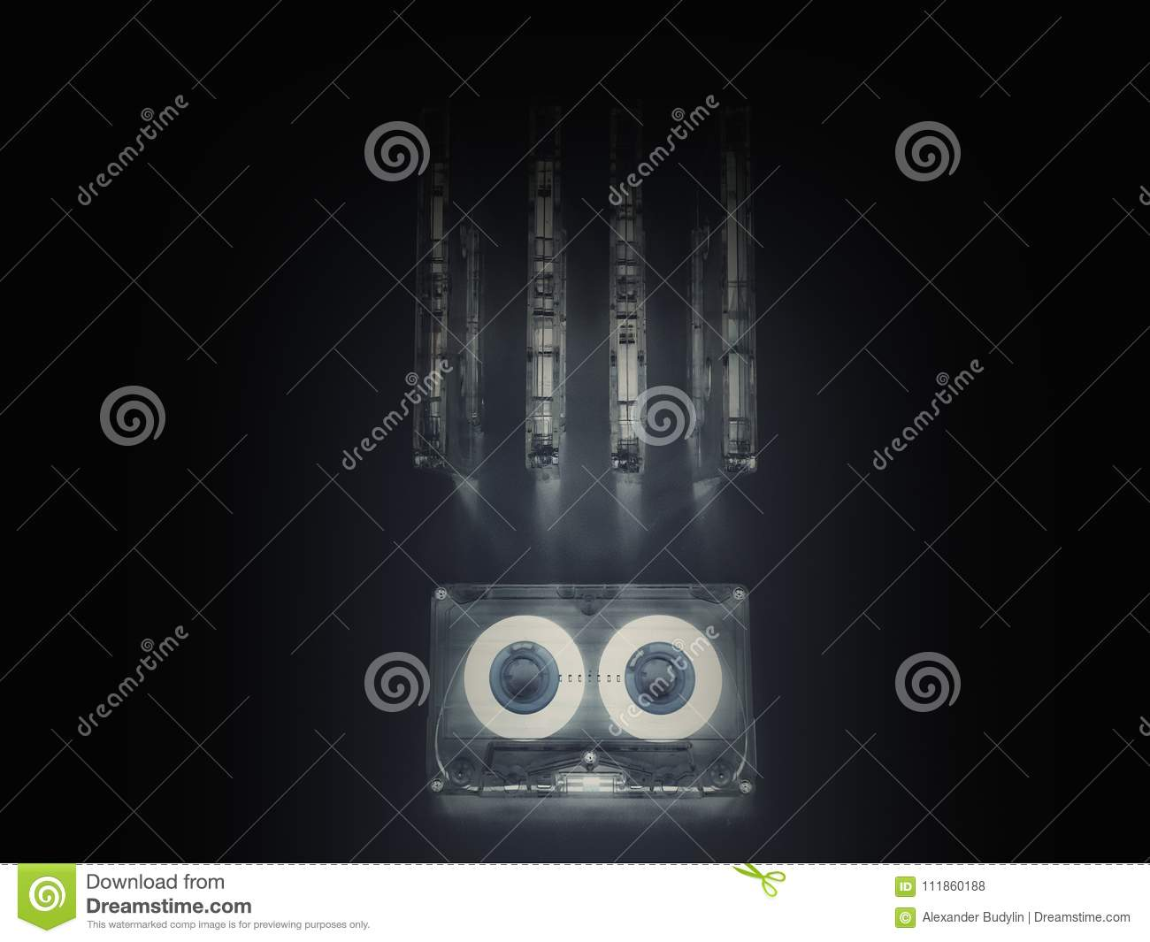 Audio Cassettes For Recorder Stock Photo Image Of Hits Nostalgia