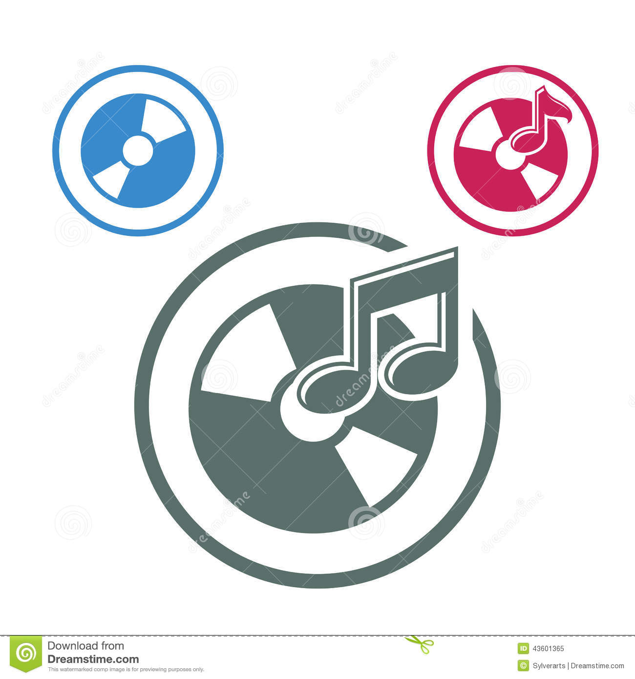Audio Cd Icon, Single Color Vector Music Theme Symbol For