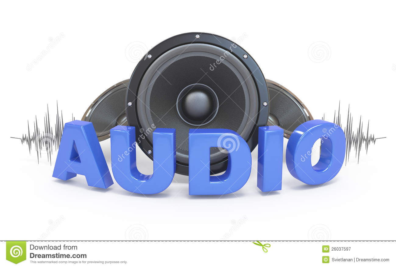 audio concept icon stock illustration illustration of blue 26037597