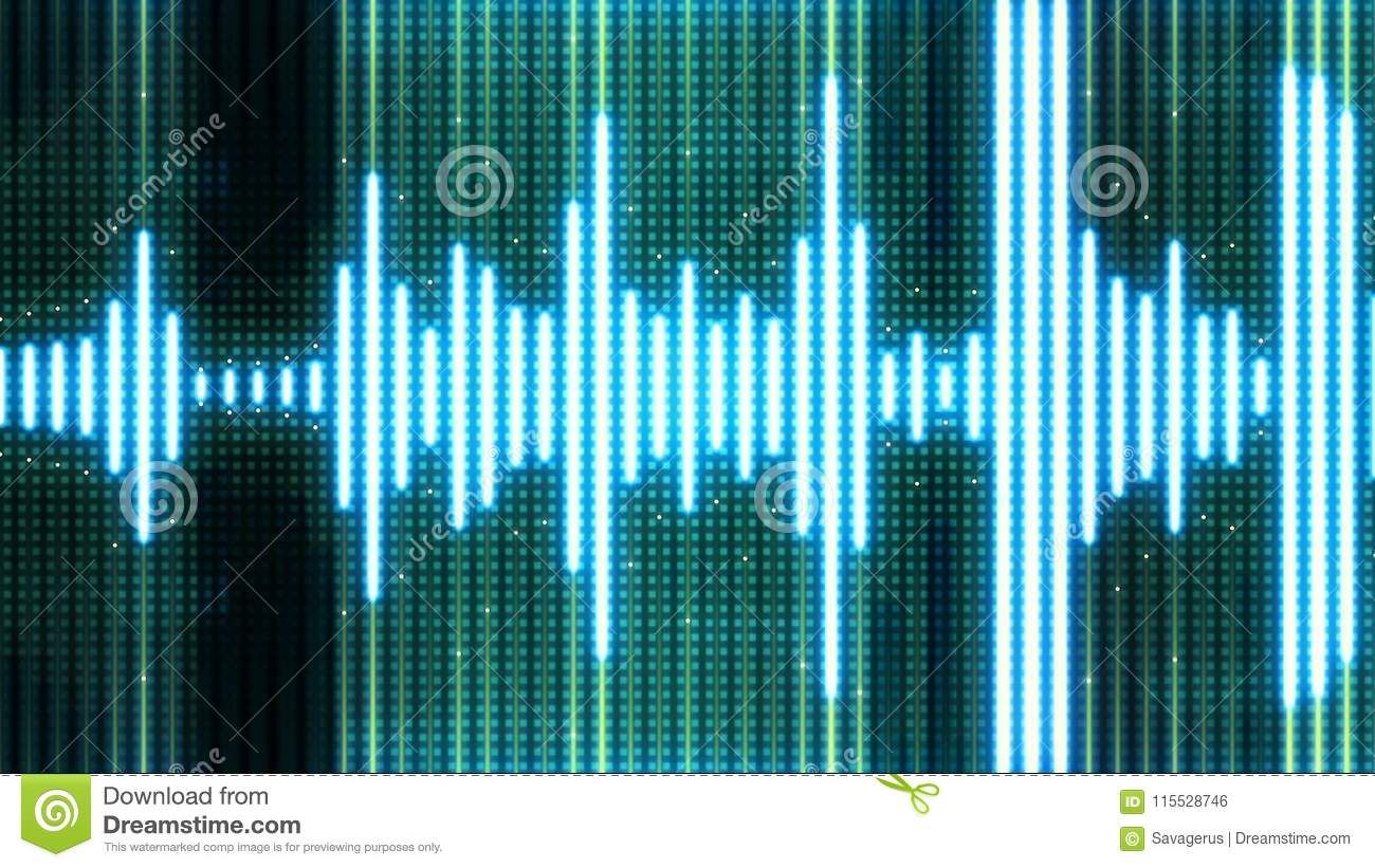 Audio Equalizer Background Stock Illustration Of Graphic Abstract Neon