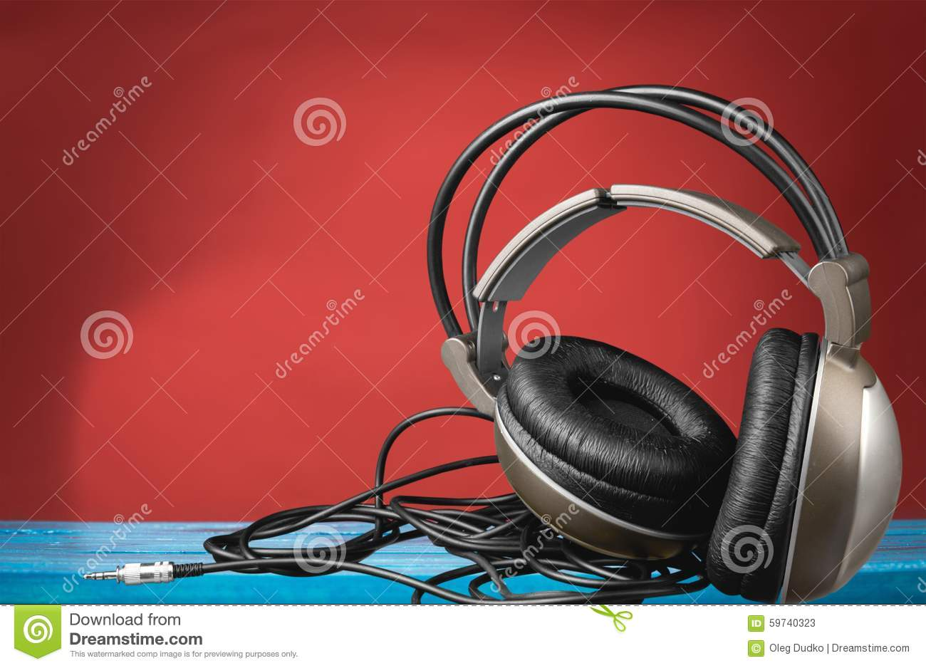 Sound Equipment Cables : Audio equipment stock photo image