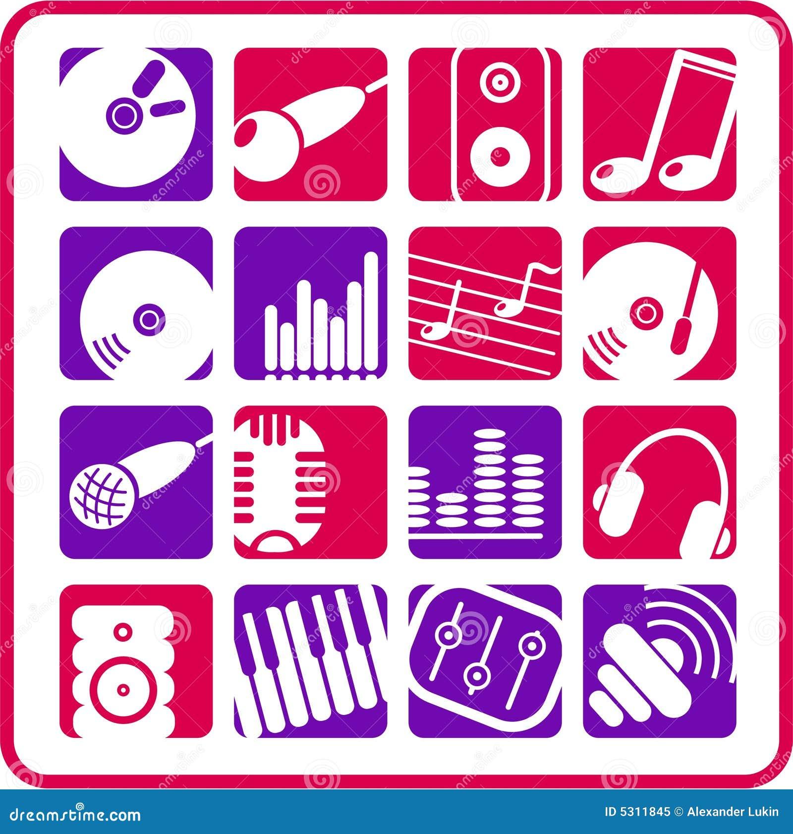 Download Audio icone illustrazione vettoriale. Illustrazione di earphones - 5311845