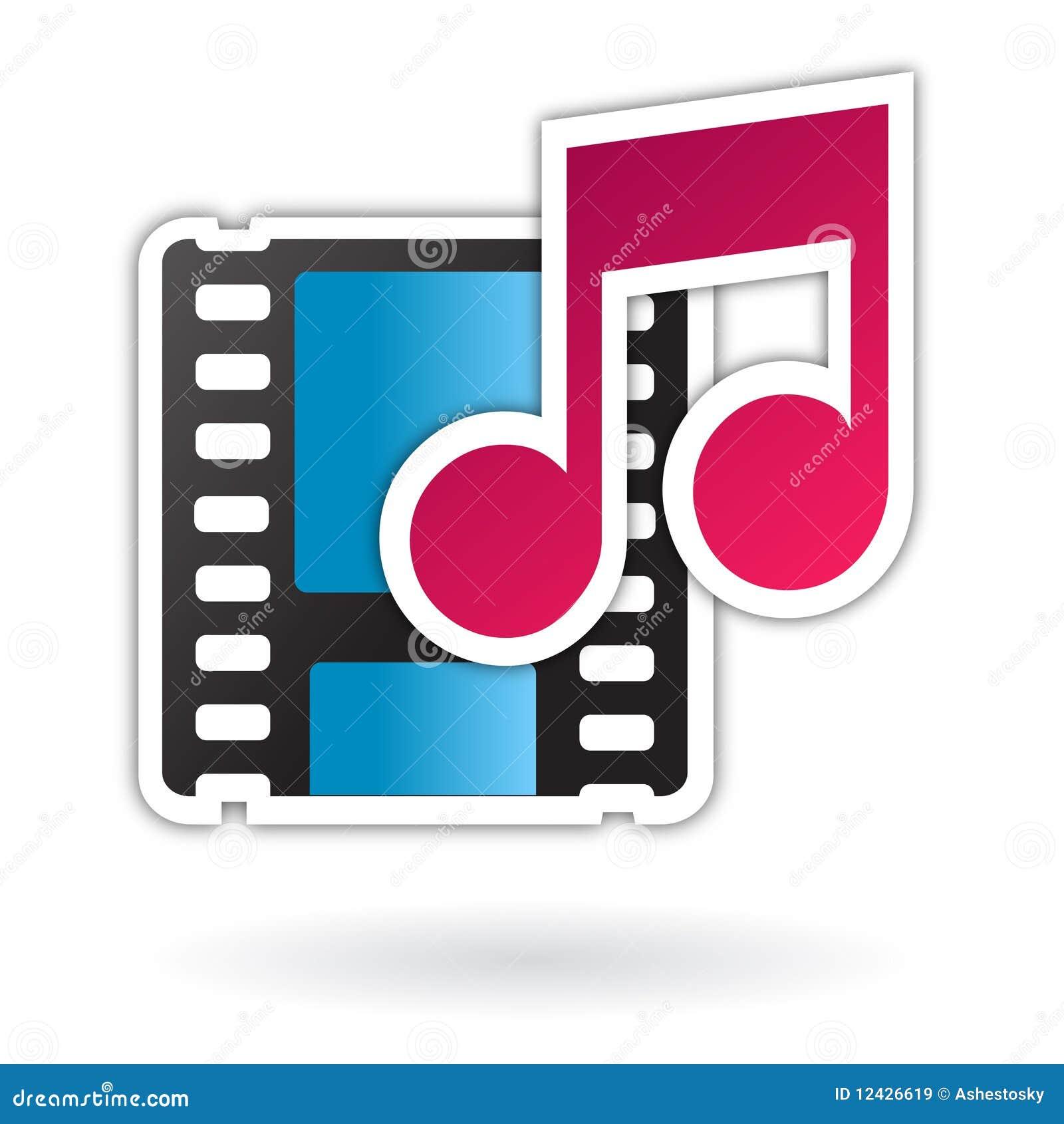 Audio kartoteki ikony środki wideo