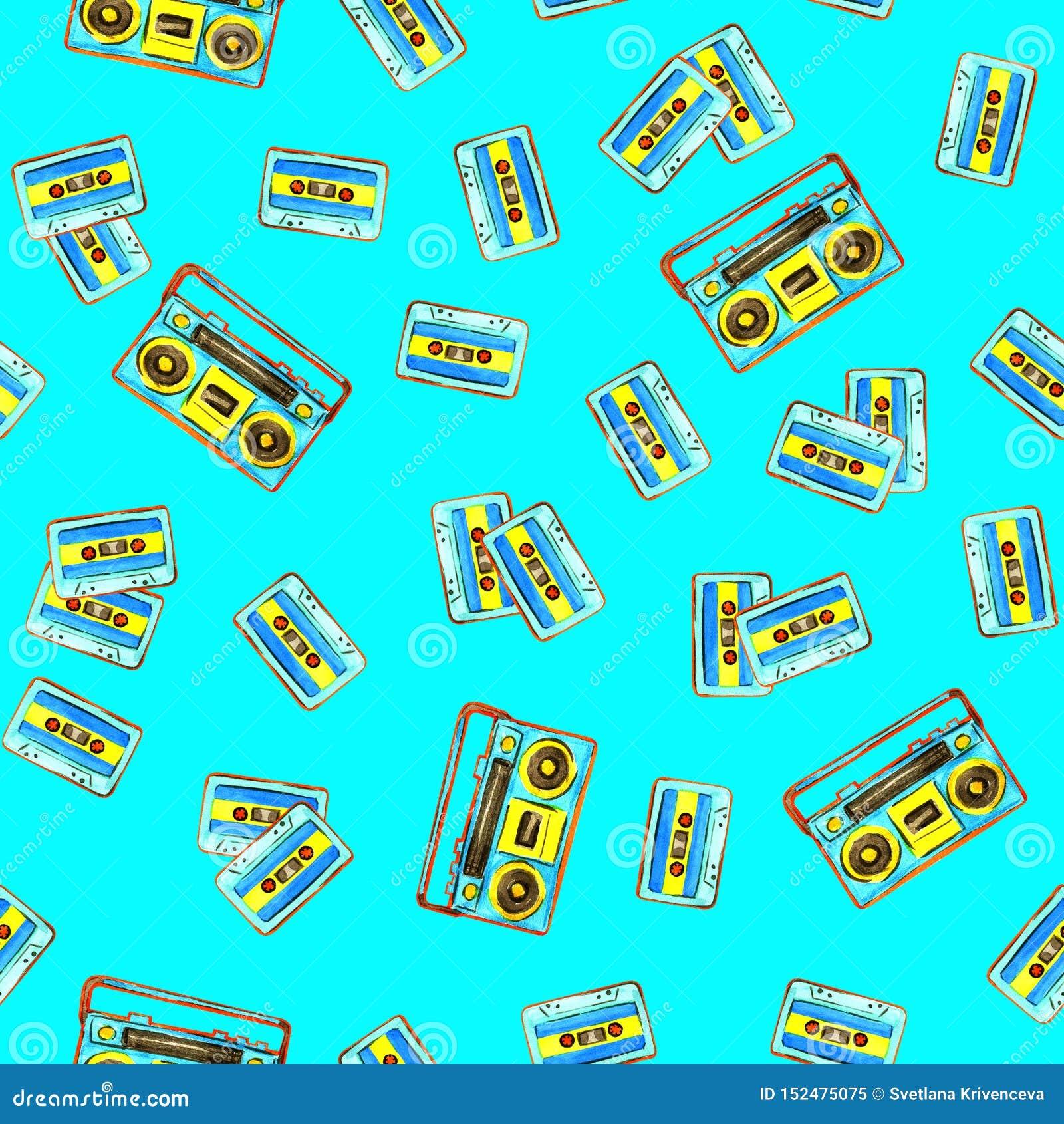 Audio kasety i retro boombox