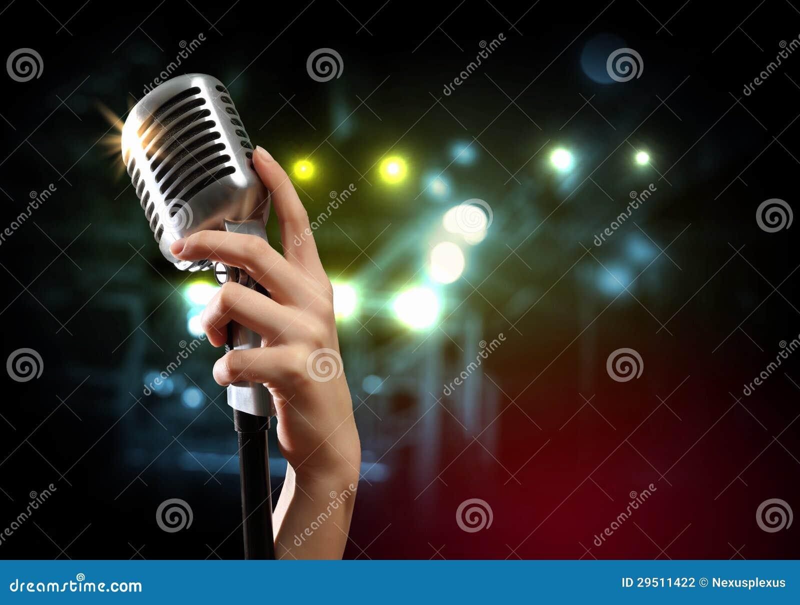 Audio microfoon retro stijl