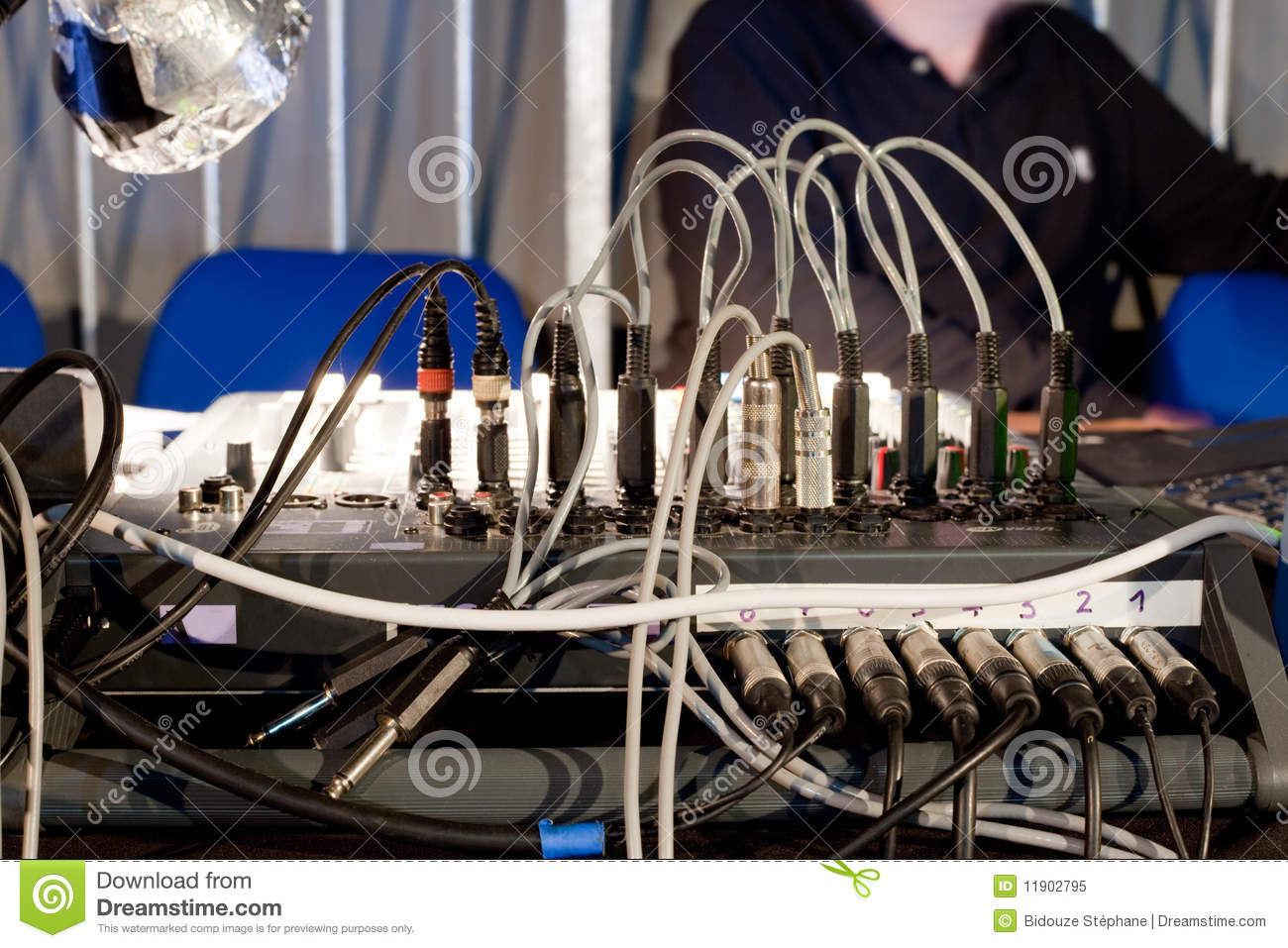 Stupendous Audio Mixing Board Stock Image Image Of Recording Plugs 11902795 Wiring Cloud Hisonuggs Outletorg