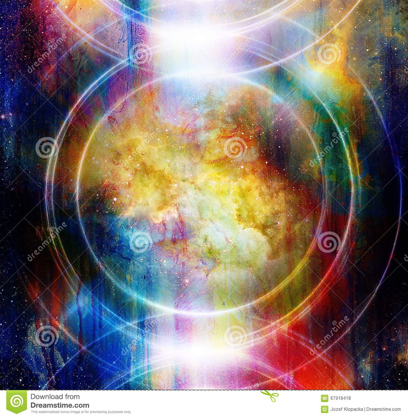 Audio Music Speaker In Space  Cosmic Space And Stars, Abstract