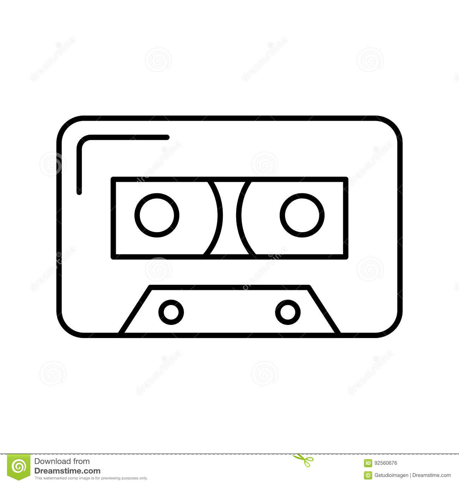 Audio nastro a cassetta isolato