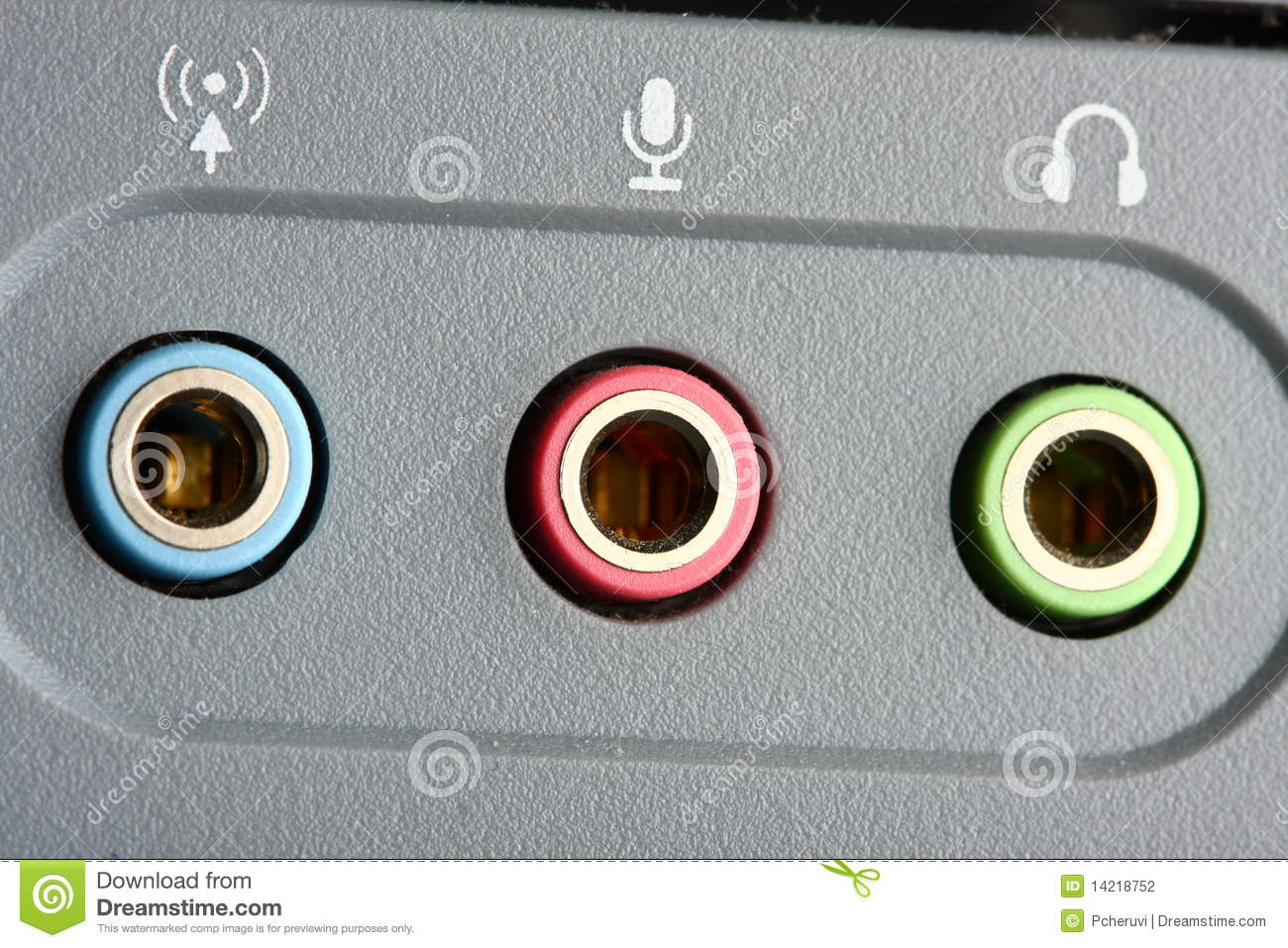 Audio Ports Stock Photography - Image: 14218752