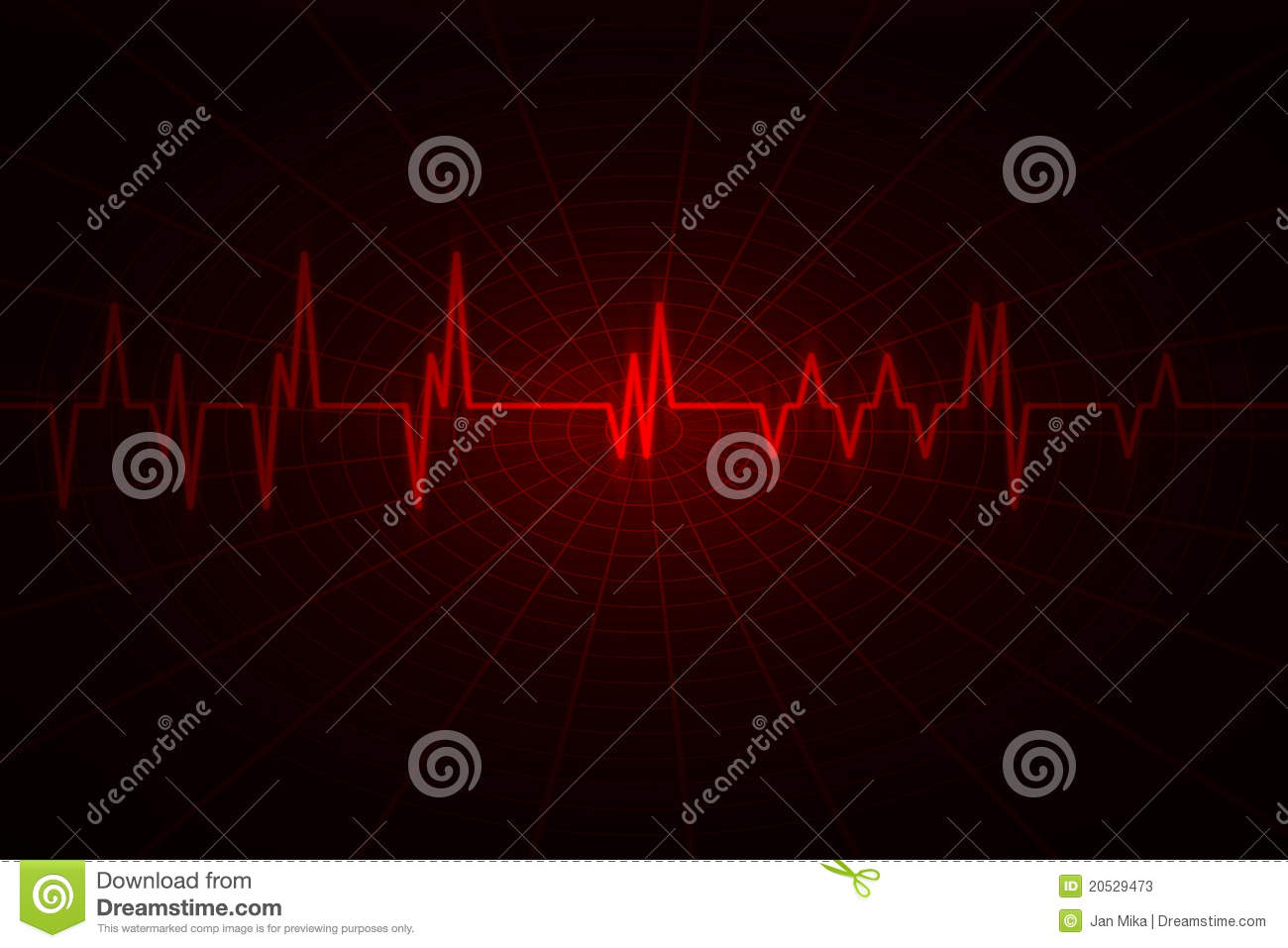 Audio or pulse beat wave
