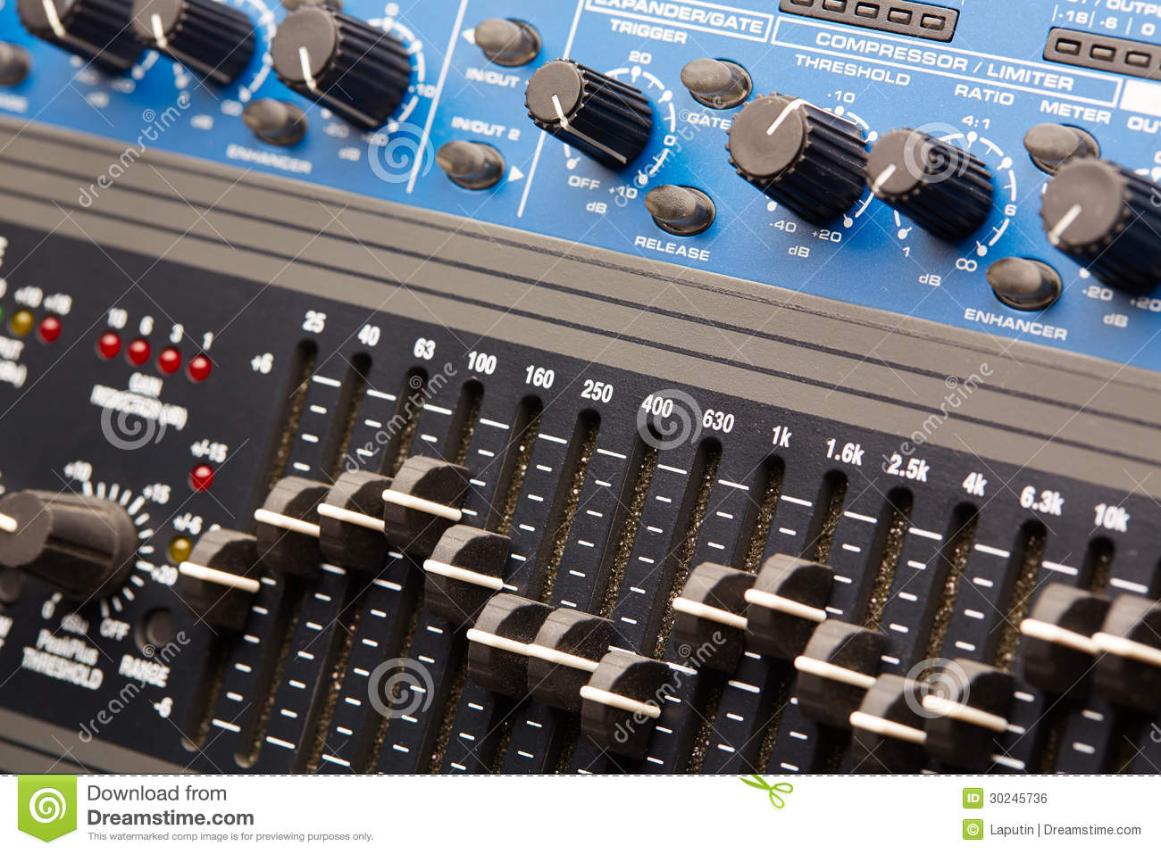 Tractor Technology Panel : Audio rack royalty free stock image