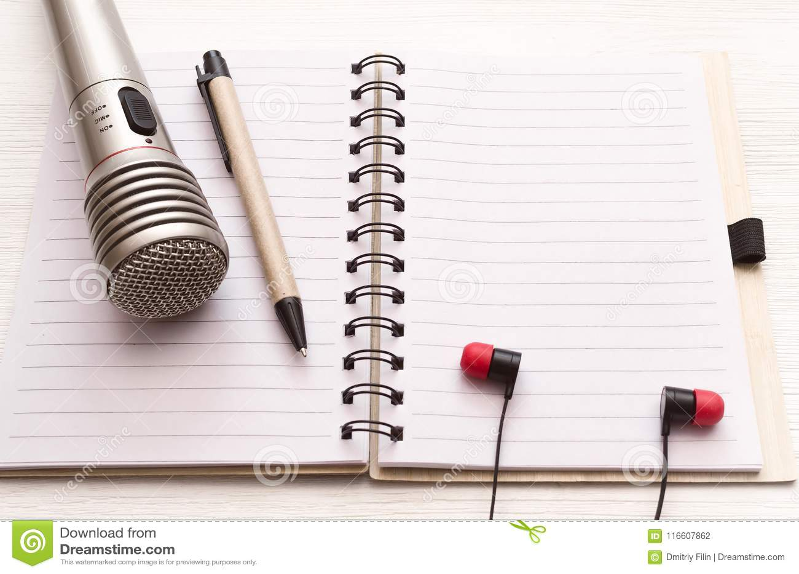Karaoke Singer  Microphone  Sound Recording Studio Background  Song