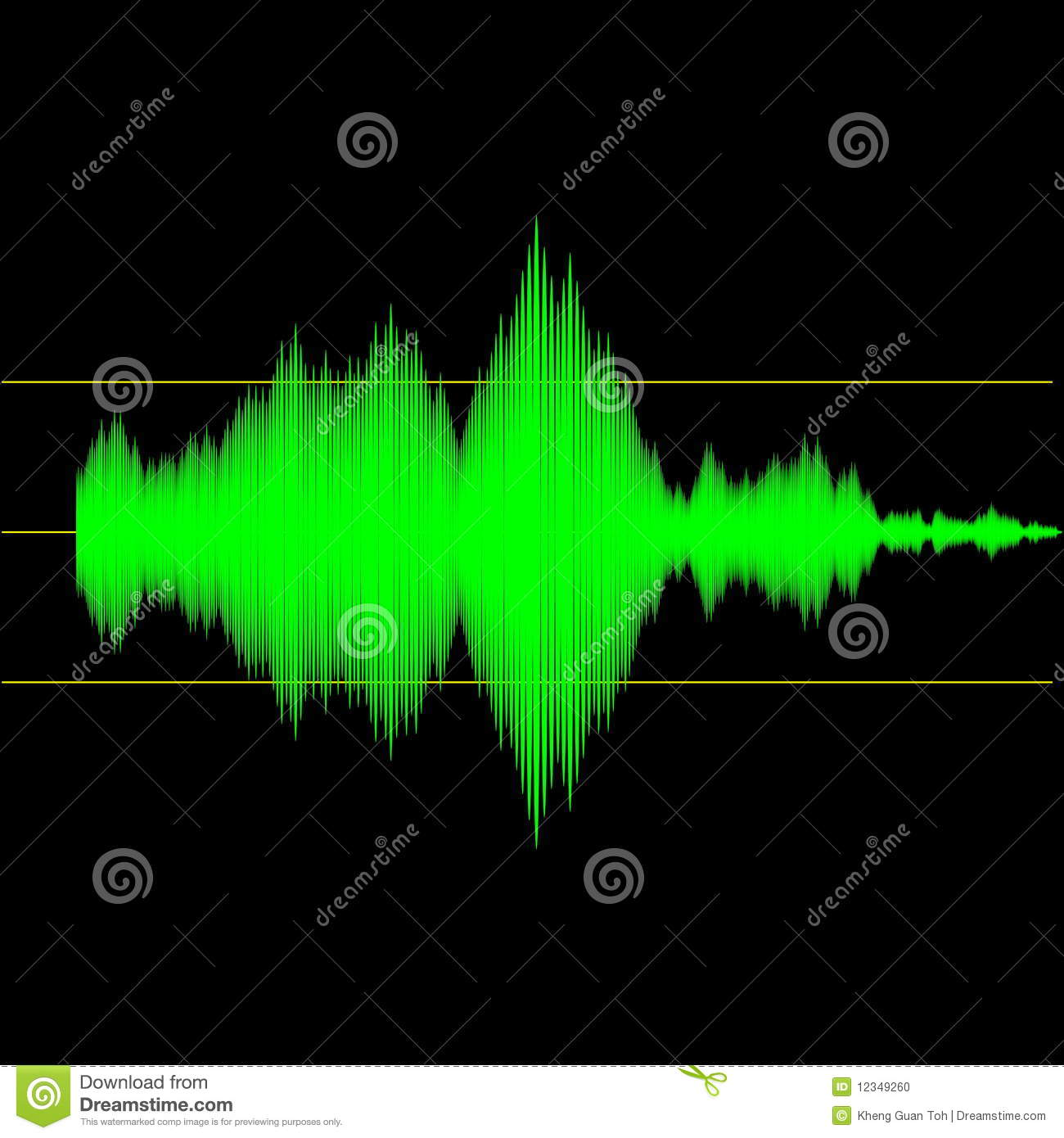 Acoustic Sound Waves : Audio sound wave measurement stock photo image