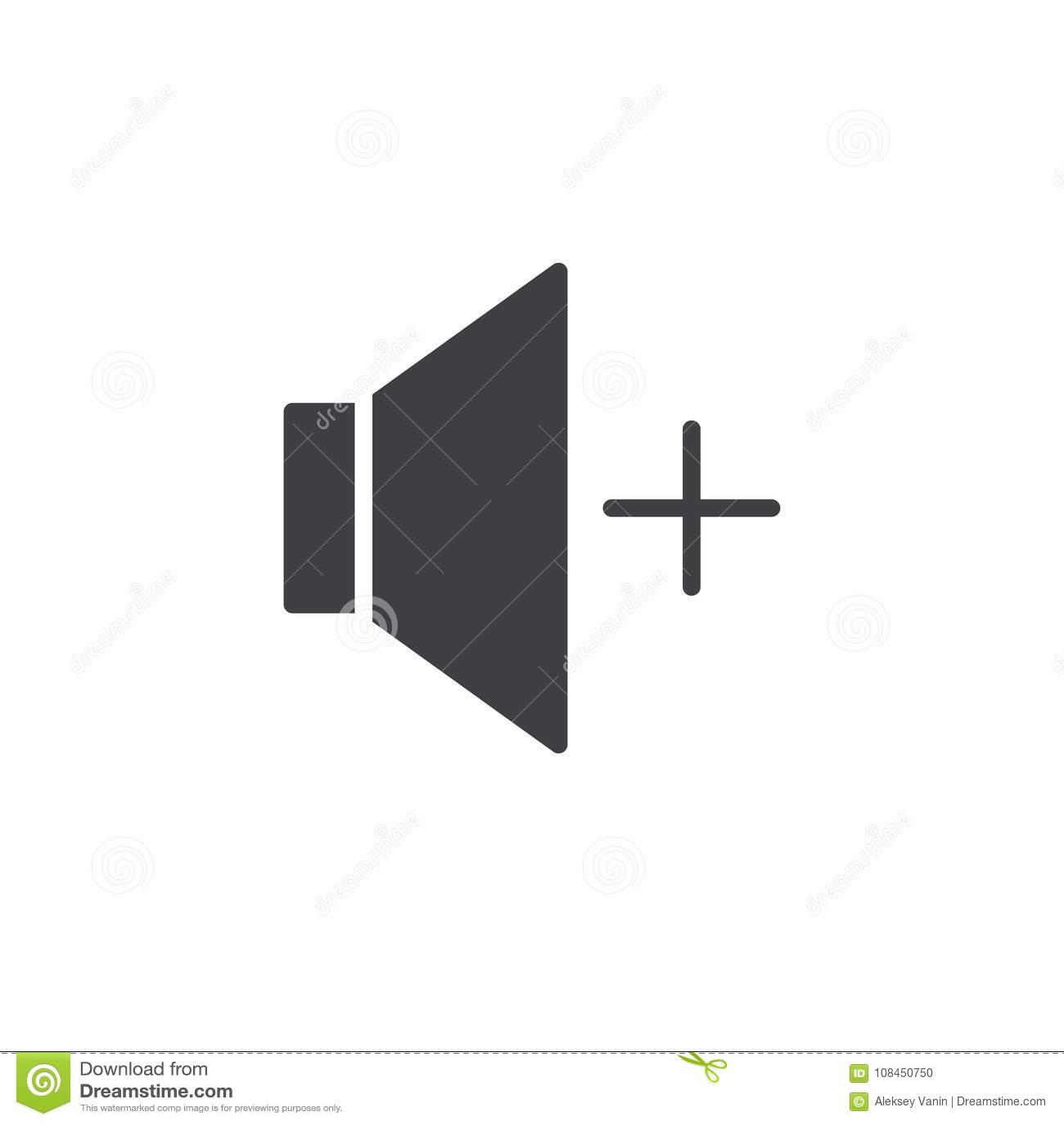 Audio Speaker Volume Up Icon Vector Stock Vector Illustration Of