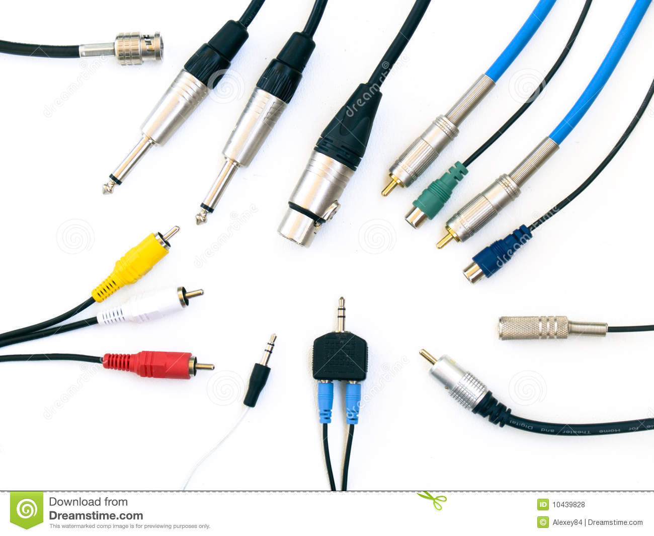 Audio Amp Video Connectors Stock Photo Image Of Digital