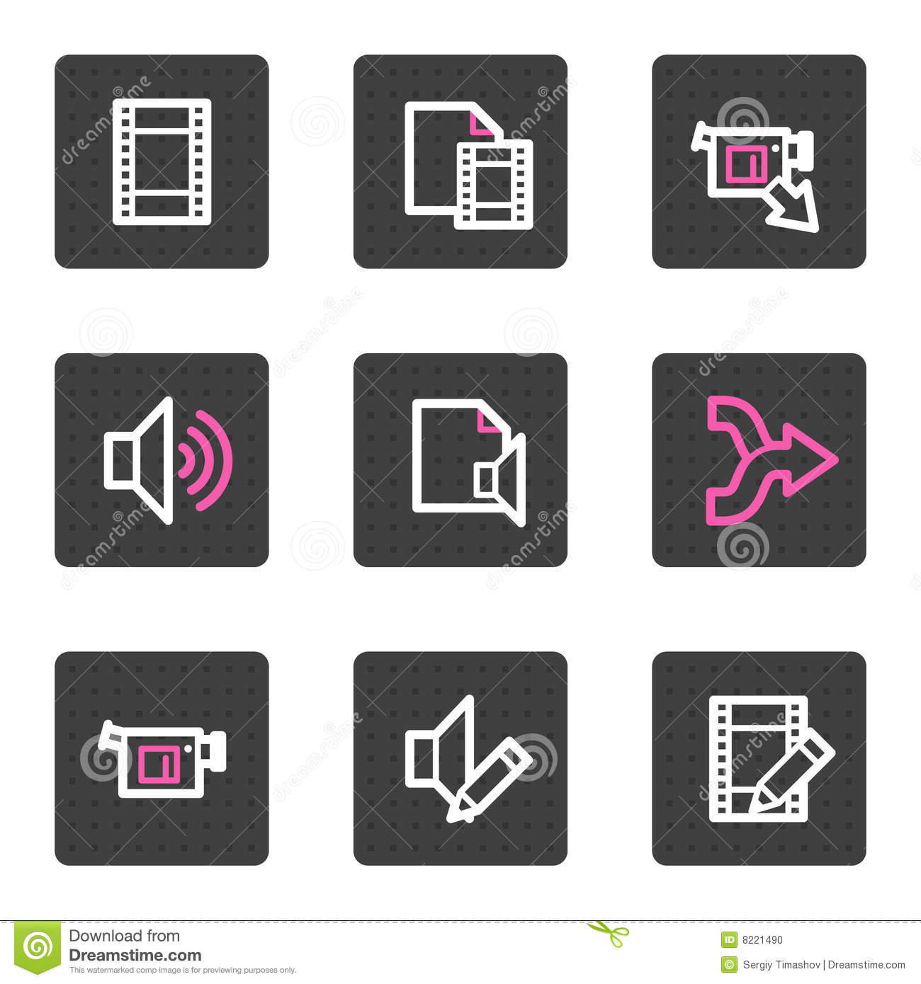 Audio video editing web icons stock photo image 8221490 royalty free stock photo download audio video editing ccuart Images