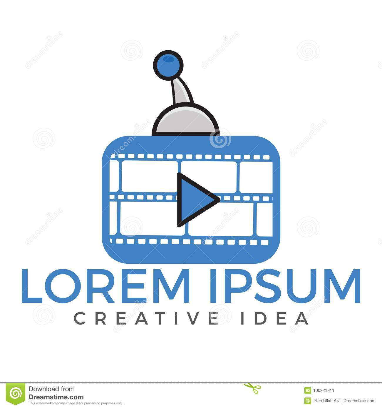 Media And Movie Player Logo  Stock Vector - Illustration of