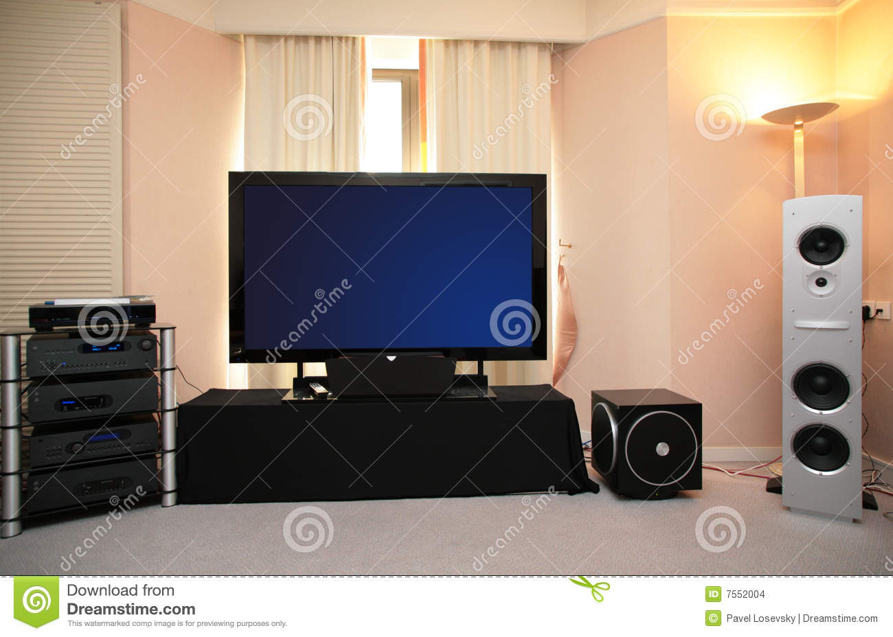 Download Audio video system stock photo. Image of equipment, glass - 7552004