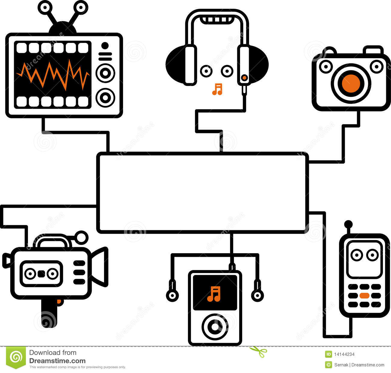 audio visual illustration stock vector  image of camcorder