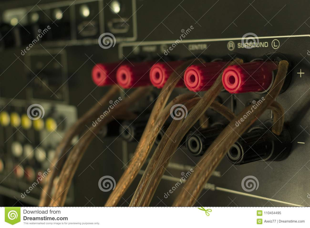 audio wires on the receiver