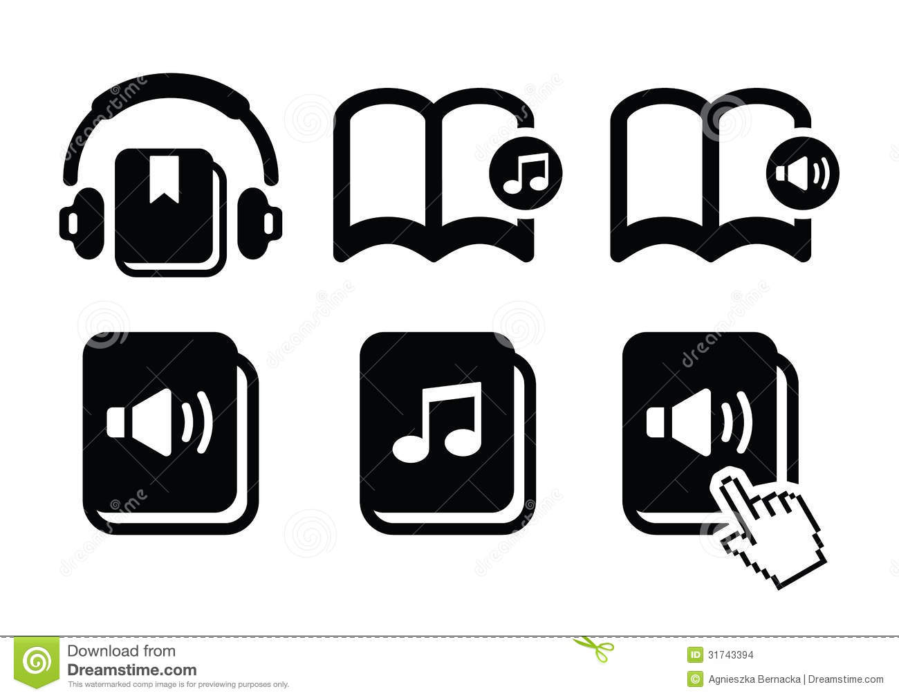 https://thumbs.dreamstime.com/z/audiobook-icons-set-listening-to-audiobooks-black-isolated-white-31743394.jpg