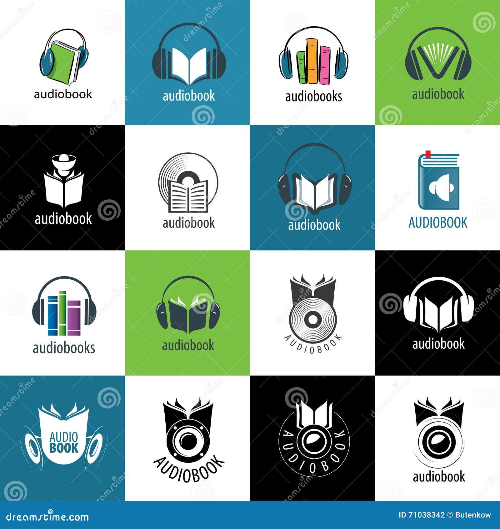 audiobook vector logo template stock vector illustration of